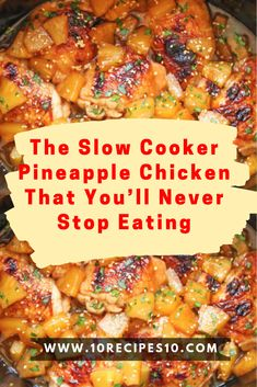 The Slow Cooker Pineapple Chicken That You'll Never Stop Eating – One Of Rec. - Easy dinners - The Slow Cooker Pineapple Chicken That You'll Never Stop Eating – One Of Recipe The Effective P - Crockpot Dishes, Crock Pot Slow Cooker, Crock Pot Cooking, Cooking Recipes, Chicken In Crockpot Recipes, Crockpot Hawaiian Chicken, 3 Ingredient Chicken Recipes, Slow Cooker Recepies, Slow Cooker Meat Recipes