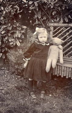 Taking teddy out in the garden | Flickr - Photo Sharing!