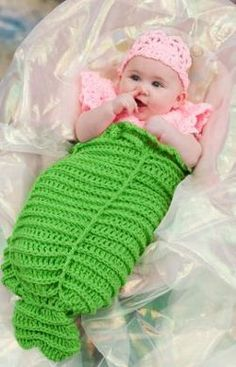 Mermaid Cocoon #AllFreeCrochet  -- ok not sure how much I love this particular pattern but so cute.  Or creepy?  Cute.