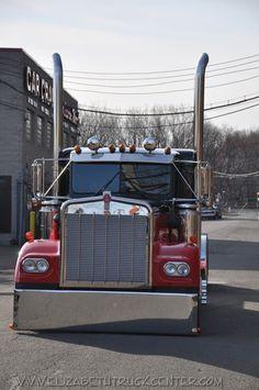 Big Rig Trucks, Cool Trucks, Custom Big Rigs, Kenworth Trucks, Truck Art, Dawn, Vintage, Red, Rat Rods