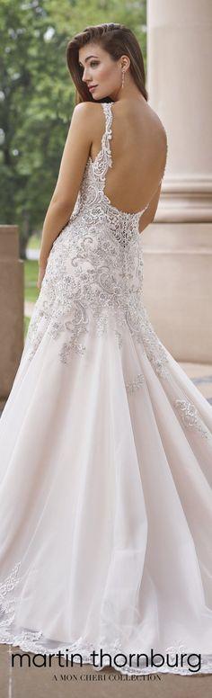 Wedding Dresses By Martin Thornburg, A Mon Cheri Collection – Spring 2018 #weddingdresses #weddinggowns #bridaldress #bride #bridal #bridalgown #brides #weddings