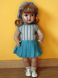 The third model of the Spanish doll Mariquita Perez. Manufactured by Jose Florido between 1943 and 1953.