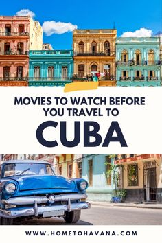 Inspire Wanderlust for Cuba with these movies and TV shows to watch before your next adventure. Travel from home with these recommendations! #TravelInspiration #CubaTravel #Havana