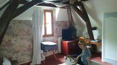Hotel room at Chinon.