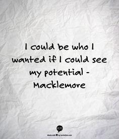Love Macklemore's lyrics