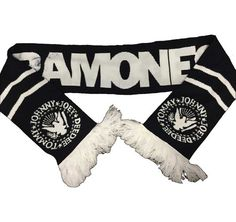Ramones Scarf in Black and White