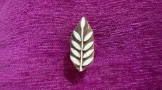 Small leaf design indian wood stamp, pottery stamps, textile stamps, wood carved printing block