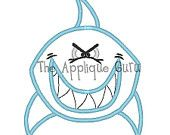 Shark Applique Machine Embroidery Design