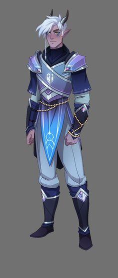 Tiadrin & Lain Design Turnarounds – The Dragon Prince - Royce Cobbald Fantasy Character Design, Character Concept, Character Inspiration, Character Art, Concept Art, Rayla Dragon Prince, Prince Drawing, Dragons, Anime Prince