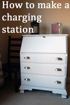 Genial How To Make A Charging Station And Laptop Storage From A Dresser Or Desk