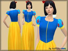 Sims 4 CC's - The Best: Snow White Dress by Bukovka