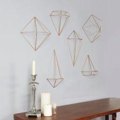 Umbra 470520-880 Prisma Geometrische Wanddekoration 3er-Set kupfer: Amazon.de: Küche & Haushalt