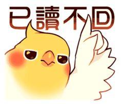 Coca Bird by ErA sticker Cute Cartoon Drawings, Cute Kawaii Drawings, Animal Drawings, Cute Kawaii Animals, Cockatiel, Cute Birds, Disney Tattoos, Cute Stickers, Parrot