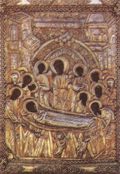 """The Holy Icon of Panagia Malevi Nun Agne told us: """"In 2007 a boy came to the Monastery that had just turned fifteen, who was one step a. Russian Icons, Orthodox Icons, African History, Byzantine, Vintage World Maps, Saints, Religion, Lion Sculpture, Statue"""