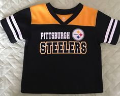 Pittsburgh Steelers toddler 2T NFL Steelers Logo Football Jersey Shirt  #PittsburghSteelers