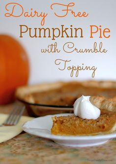 Thanksgiving is almost here. Do you need a vegan dessert that's easy to make? If so you can't go wrong with this yummy Pumpkin Pie with Crumble Topping recipe.