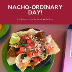 I think the best way to celebrate #NationalNachoDay is with our #Nachos. Couple our nachos with the added bonus of signature cocktails being $6.50 today and you just crushed your Monday.