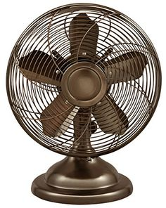 Shop Optimus Oscillating Antique-Style Table Fan Black at Best Buy. Find low everyday prices and buy online for delivery or in-store pick-up. Personal Fan, Retro Table, Vintage Table, Shop Fans, Desk Fan, Vintage Fans, Thing 1, Antique Chandelier, Black Table