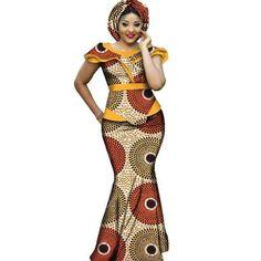 African Dashiki Plus Size Long Women Set Clothing - Dukaiko Fashion African Fashion Designers, African Fashion Ankara, African Dashiki, Latest African Fashion Dresses, African Dresses For Women, African Print Dresses, African Print Fashion, Africa Fashion, African Attire