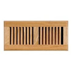 Accord Select Oak Light Stain Wood Floor Register (Rough Opening: 10-I