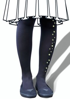 Glow in The Dark  Star Tights by emteesee on Etsy