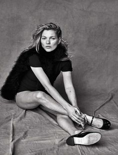 Kate Moss photographed by Peter Lindbergh for Vogue Italia