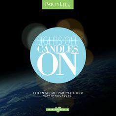 PartyLite feiert die #EarthHour2015!  Am 28. März schalten um 20:30 Uhr Millionen von Menschen für eine Stunde das Licht aus, und setzen ein Zeichen für unseren Planeten.  Gemeinsam können wir Großes bewirken: PartyLite spendet im März für jedes verkaufte Brighter World Duftwachsglas CHF 1.- an das Global Earth Hour Movement.  Zünden Sie eine Kerze an, und machen Sie mit!  Halten Sie die Augen offen - März halten wir noch einige Überraschungen für Sie bereit! #LightsOffCandlesOn