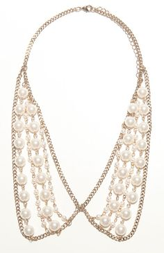 With Love From CA Chain Pearl Peter Pan Necklace
