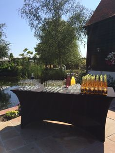 Reception drinks at High House Weddings Lawn Games, On Your Wedding Day, Alcoholic Drinks, Wedding Venues, Reception, Gardens, Table Decorations, Weddings, House