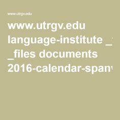 2016 calendar spanver utrgv pdf more utrgv pdf 2016 calendar spanver ...