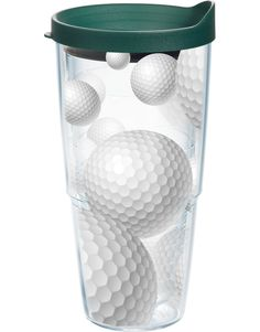 Game On Golf Balls 24 Oz. Tumbler with Lid