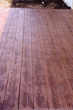 "Tiered patio, 8"" wood plank pattern / www.bonway.com"
