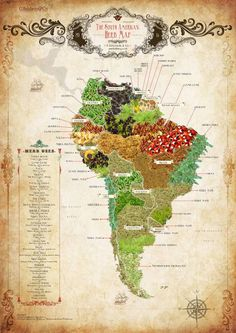 The South American Herb Map.  More herb maps >>