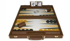 "21"" mustard backgammon board"