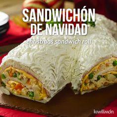 Sandwichón de Navidad - Possess Tutorial and Ideas Healthy Chicken Recipes, Mexican Food Recipes, Cooking Recipes, Ethnic Recipes, Easy Casserole Recipes, Easy Dinner Recipes, Easy Meals, Tasty Videos, Food Videos