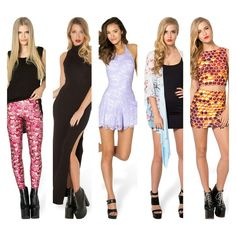 ISO these BM pieces size S-M!!!!! We're all mad here leggings Reaper dress Once upon a time lilac play suit  Cherry blossom kimono Honey I'm home wifey set Blackmilk Pants