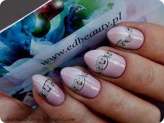 Naklejki wodne nutki od EDbeauty_Profesjonalne ozdoby do paznokci