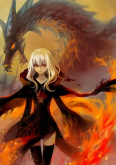 Anime fire princess- I just love this picture!