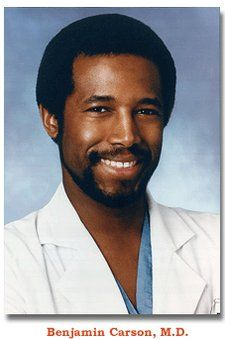 "Ben Carson - A shining example of a gifted African American boy who struggled his way through education in the ghetto to become a leading surgeon. The book ""Gifted Hands"" is a great biography that can be used with culturally diverse gifted students. African American Scientists, African American History, African Americans, Johns Hopkins Hospital, Kings & Queens, Dr Ben, Black Men Hairstyles, Ben Carson, My Black Is Beautiful"