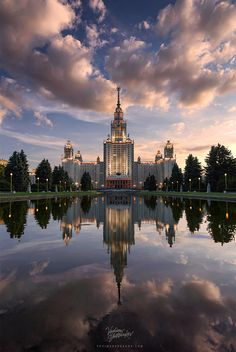 MGU sunset in Moscow, Russia. Tiff and Jpeg option available Wonderful Places, Beautiful Places, Beautiful Pictures, Moscow University, State University, Visit Russia, City Landscape, Modern City, Moscow Russia