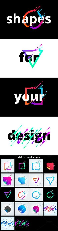 Vector shapes. Best Objects http://jrstudioweb.com/diseno-grafico/diseno-de-logotipos/