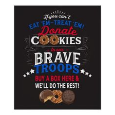 Shop Cookie Booth Poster Donate to the Troops created by Girl_Rising. Girl Scout Cookie Meme, Girl Scout Cookie Sales, Girl Scout Cookies, Girl Scout Swap, Daisy Girl Scouts, Abc Cookies, Cookie Delivery, Cinnamon Recipes, Scout Leader