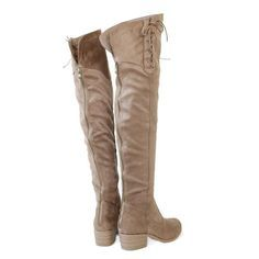 """Style : Thigh High Boots Heel Height : 1 3/4"""" Condition : New in Box Main Color : Taupe Main Material : Man-made Material Fit : Small to size Size 6 and Size 10"""