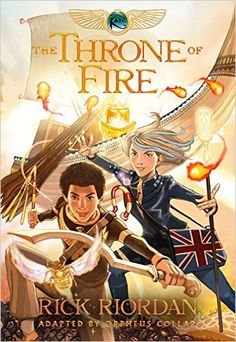 The Kane Chronicles Book Two The Throne of Fire: The Graphic Novel: Orpheus Collar, Rick Riordan: 9781484714904: Amazon.com: Books