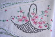 embroidered pillowcases - Bing Images