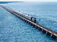 The Pamban Bridge ( Tamil: பாம்பன் பாலம்), is a cantilever bridge on the Palk Strait which connects the town of Rameswaram on Pamban Island to mainland India. Opened on 24 February 1914, it was India's first sea bridge, and was the longest sea bridge in India until the opening of the Bandra-Worli Sea Link in 2010.