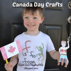 Canada Day Crafts for kids Toddler Preschool, Toddler Crafts, Preschool Crafts, All About Me Display, Canada Day Crafts, Crafts To Make, Crafts For Kids, Club 16, Happy Canada Day