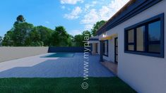 4 Bedroom House Plan - My Building Plans South Africa Split Level House Plans, Square House Plans, Metal House Plans, Free House Plans, 4 Bedroom House Plans, Family House Plans, My Building, Building Plans, House Plans South Africa