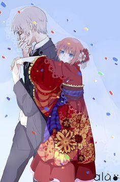 Sougo: *damn it, this girl is f*cking cute* Kagura: huh ? Anime Love Couple, Cute Anime Couples, Kamui Gintama, Manga Anime, Anime Art, Okikagu, Anime Life, Awesome Anime, Anime Ships