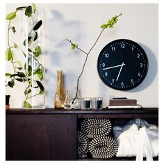 IKEA - CYLINDER, Vase, clear glass, The glass vase is mouth blown by a skilled craftsperson. Glass Cylinder Vases, Glass Vase, Wall Clock Ikea, Wall Clocks, Ikea Wall, Grands Vases, Pastel Decor, Fused Glass, Products